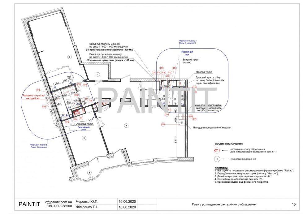 план размещения сантехнического оборудования