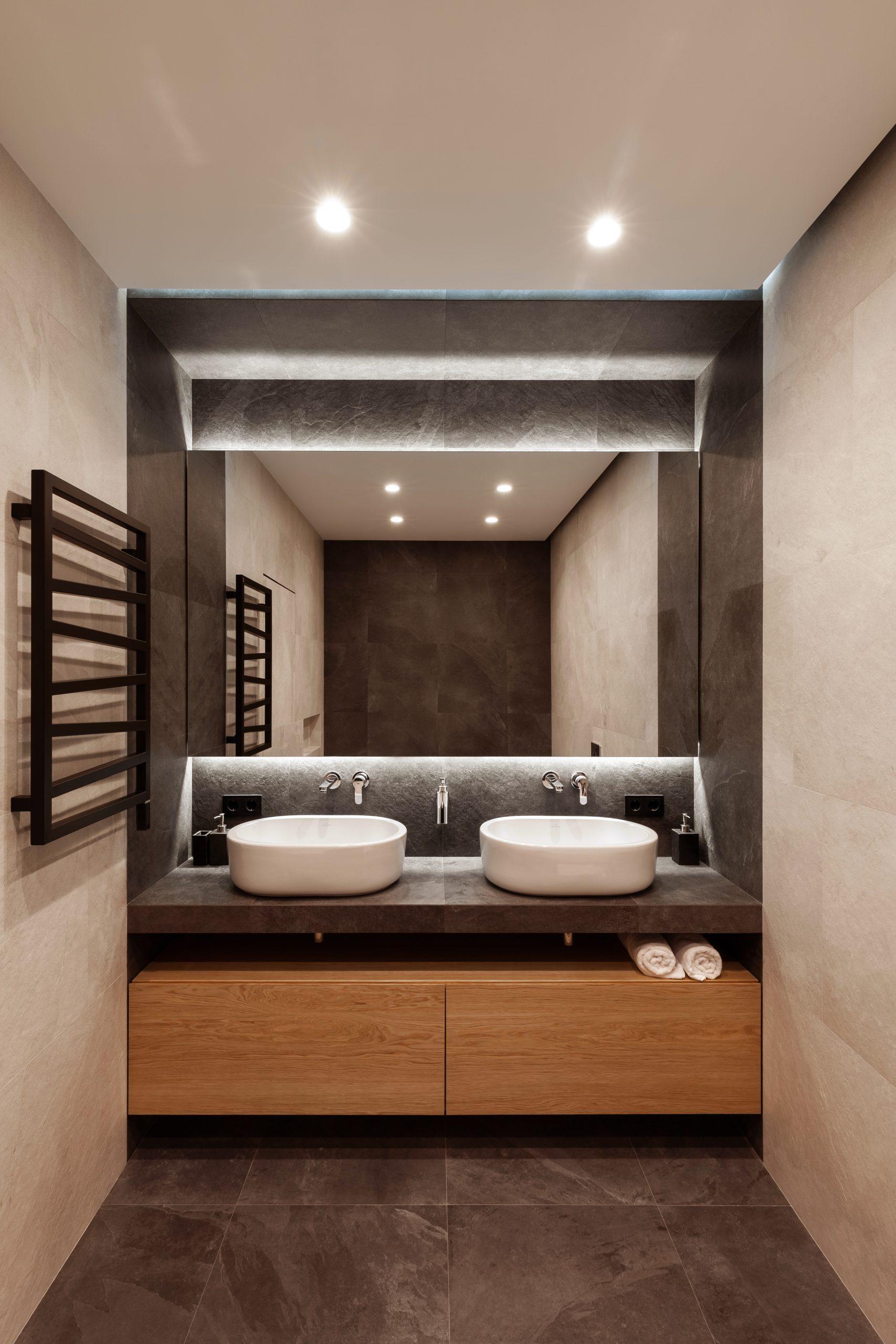 дизайн интерьера ванной комнаты доме